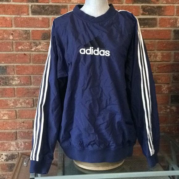 90s Vintage Adidas Pullover Windbreaker Jacket
